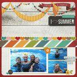 I heart summer layout