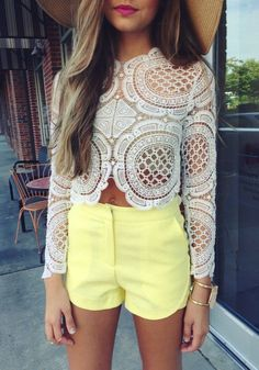 #summer #fashion / chic lace