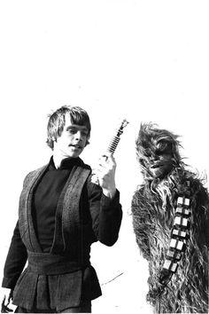 Luke and Chewbacca.