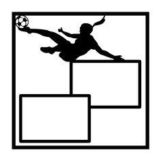 Girls Soccer Scrapbooking Die Cut Overlay