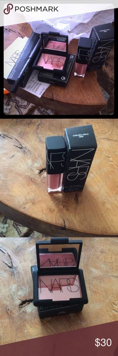 NARS Samples NARS orgasm blush, Via Veneto eyeliner, Chelsea girls lip gloss NARS Makeup
