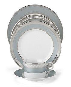 "Lauren Ralph Lauren ""Silk Ribbon Slate"" 5-Piece Place Setting - Fine China - Dining & Entertaining - Macy's Bridal and Wedding Registry"
