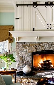 Flat Screen TV Over Fireplace Designs . . . To Hide Or Not To Hide?