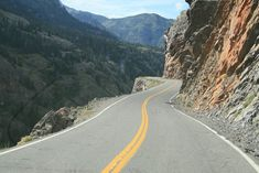 Million Dollar Highway...definitely not the most dangerous road (as per article) in Colorado or the world. It's beautiful.