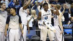 January 27, 2016: Xavier vs Providence Farr going farther - James Farr of Xavier scored a career-high 24 points off the bench and hauled in 15 rebounds during the recent win over Seton Hall. He is one of four Musketeers who averages in double-digits in scoring–a quartet led by guard Trevon Bluiett, who has notched at least 15 points in five straight games. Bluiett hit 3-of-6 three-pointers against Seton Hall and pulled into the week ranked third in the league in made threes (46)... Basketball Uniforms, Basketball Jersey, College Basketball, Basketball Court, Xavier Basketball, King Sport, Northern Iowa, Baseball Shoes, Rebounding