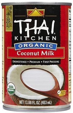Shop the best Thai Kitchen Organic Coconut Milk - Unsweetened fl oz Can products at Swanson Health Products. Trusted since we offer trusted quality and great value on Thai Kitchen Organic Coconut Milk - Unsweetened fl oz Can products. Coconut Milk Brands, Best Coconut Milk, So Delicious Coconut Milk, Coconut Dream, Organic Coconut Milk, Unsweetened Coconut Milk, Canned Coconut Milk, Coconut Milk Calories, Vegan Coffee Creamer