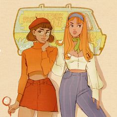 Velma and daphne WIP✨ (I saw cute cosplay and had to draw something inspired by it!) Velma and daphne WIP✨ (I saw cute cosplay and had to draw something inspired by it! Velma Costume, Scooby Doo Costumes, Daphne Costume, Daphne Scooby Doo Costume, Halloween Costumes, Cosplay Lindo, Cute Cosplay, Cartoon Kunst, Cartoon Art