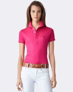 dcb67343f Cotton Piqué Polo Shirt - Collection Apparel Polos - RalphLauren.com Camisa  Polo Para Mulheres