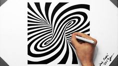 Spiral Optical Illusion - Speed Drawing ( How To Draw ) ( Tornado ) Illusion Kunst, Illusion Drawings, 3d Drawings, Illusion Art, Drawing Heart, Spiral Drawing, Cool Optical Illusions, Art Optical, Geometric Painting
