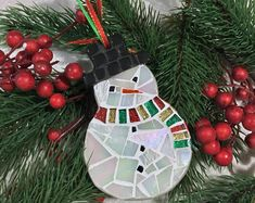 Items similar to Set of of 2 or 4 Mosaic Star Ornaments, Mosaic Christmas, Star Christmas Ornaments, Mosaic Star Ornament, Modern Holiday Hostess Gift on Etsy Christmas Mosaics, Snowman Christmas Ornaments, Star Ornament, Christmas Star, Christmas Bulbs, Snowman Decorations, Christmas Tree Decorations, Christmas Wreaths, Christmas Crafts