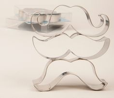 Mustache Cookie Cutter Set. Please try our new #carouselboxes / #treatboxes. They come in 10 awesome colors and can hold cookies, donuts, cupcakes, treats, gifts ... http://www.betterbakersbox.com/carousel-boxes.html.