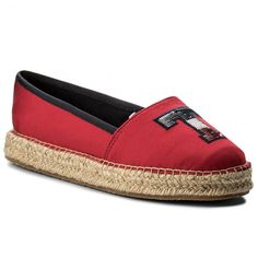 Espadrilky TOMMY HILFIGER - Th Sequins Espadrille FW0FW02412 Tango Red 611