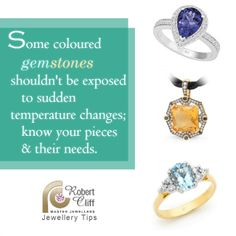 We love sharing how to care for your gemstones when you purchase them from us! #JewelleryTips #JewelleryCare #gems #gemstone #jewelrytips #jewelry #jewels #accessories #jewellery #colouredgems