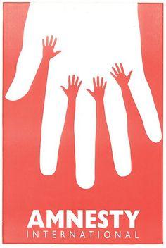 Credit: Amnesty International Design: Amnesty International, 1995 (Israel)A poster for the Israeli branch by graph...