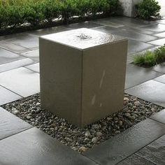 Acid Washed Concrete Fountain by Crump & Kwash