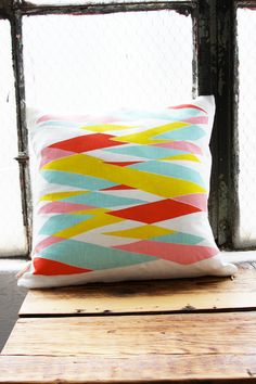 Highway Pillow Cover 16 x 16 by leahduncan on Etsy, $40.00