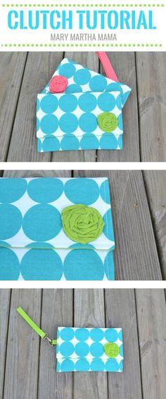 Clutch Tutorial – Mary Martha Mama- How to make a diaper clutch