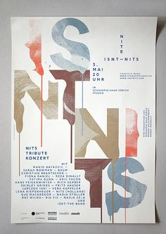 Creative Poster, Isnt, Nits, and Corporate image ideas & inspiration on Designspiration Graphic Design Print, Graphic Design Typography, Graphic Design Inspiration, Creative Inspiration, Daily Inspiration, Typography Layout, Typography Poster, Corporate Design, Corporate Identity