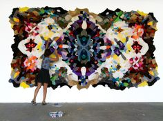 Really inspired by these rugs created from old stuffed animal skins.  We love the idea of giving new life to a once-loved plush toy animals by hand-sewing them into these kaleidoscopes of color and soft patterns.