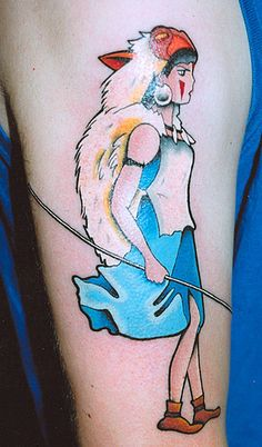 Hayao Miyazaki arm tattoo ink