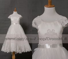 Lace First Communion Dress White Ball gown Communion by DressMall