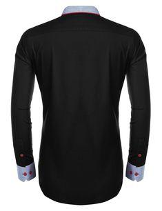 Coofandy Mens Long Sleeve T-Shirt Casual Tee Cotton Raglan Shirts