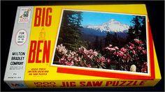 Milton Bradley VINTAGE 1962 Big Ben 1000 JIGSAW PUZZLE Mt Hood in Spring SEALED