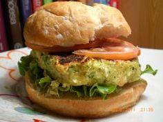 Hamburguesa vegetariana de calabacín