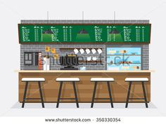 vector illustration design of coffee shop,coffee bar,counter,background,flat style Coffee Shop Counter, Bar Counter, Cafe Logo, Bus Station, Liquor Cabinet, Illustration, Design, Home, Arrancar