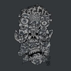 Monster Face from Monster Faces - NeatoShop