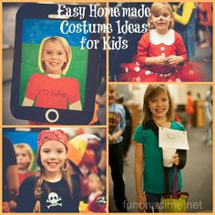 Easy homemade costume ideas for kids and Super cute!
