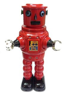 Tin Windup Robot Roby RED