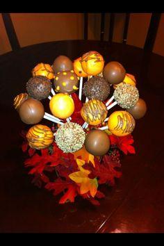 thanksgiving - cake pop bouquet