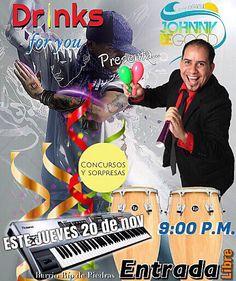 Este JUEVES 20 de  nov 2014 9pm DRINKS FOR YOU tira la casa por la ventana | ubicados 1 cuadra al norte de antojitos mexicanos  - en vivo Johnny Be Good Hn Y SU BANDA #fullparty #musicaenvivo #salsa #merengue #reggaeton #punta #cumbia #bodas #eventos  www.johnnybegoodhn.com  Youtube.com/johnnybegoodhn  Facebook.com/johnnybegoodhn ☎️ (504) 9982-5872