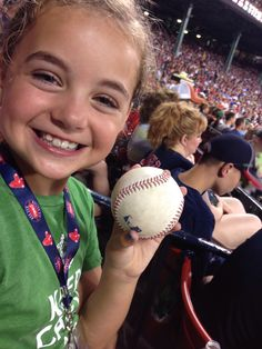 Junior got a ball at her first Fenway game. Unbelievably awesome.  #WhoScriptedThis
