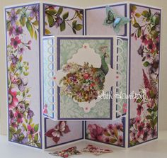 "This card is made with the beautiful ""Bohemian"" collection which is a Dovecraft Premium range from Trimcraft.   I have shown all the st..."