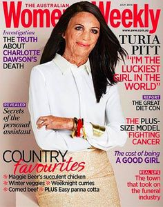 Turia Pitt Is the Summer's Cover Model. She was burned over 60% of her body during a race in Australia when she and other runners were caught in a wildfire.