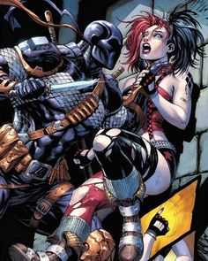 DC Comics - Harley Quinn/Deathstroke #SuicideSquad Art