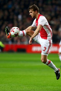 Joel Veltman of Ajax in action during the Eredivisie match between Ajax Amsterdam and PSV Eindhoven held at Amsterdam Arena on December 18, 2016 in Amsterdam, Netherlands.