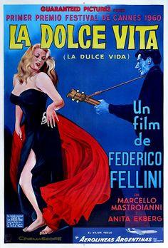 LA DOLCE VITA.Federillo Fellini. DVD. Marcello Rubini es un periodista romano, en busca de celebridades, que se mueve por las fiestas nocturnas que celebra la burguesía de la época. Merodea por distintos lugares de Roma, siempre rodeado de todo tipo de personajes. En una de sus salidas se entera de que Sylvia, una célebre diva del mundo del cine, llega a Roma, cree que ésta es una gran oportunidad para conseguir una gran noticia, y la perseguirá por diferentes lugares de la ciudad.