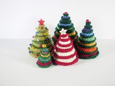 more Christmas trees / pine trees to crochet - free patterns