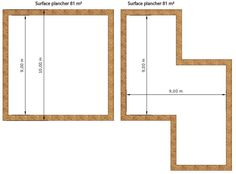 Surface Habitable, Construction, Divider, How To Plan, Mirror, Room, Furniture, Home Decor, Houses