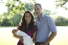 20 August 2013.  Catherine, Duchess of Cambridge and Prince William have released the first family photos with their baby son, Prince George of Cambridge
