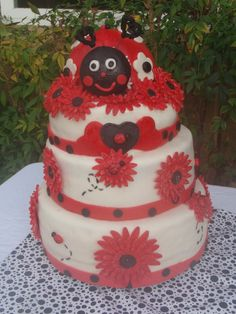 Nicole U0026 Richardu0027s Lady Bug Baby Shower Cake