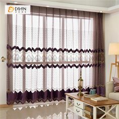 DIHIN HOME Solid Coffee Luxurious Exquisite Embroidered Valance ,Blackout Curtains Grommet Window Curtain for Living Room Panel Curtains Living Room, French Country Living Room, Living Room Decor Curtains, Home Decor Styles, Curtains, French Living Rooms, Room, Manufactured Home Remodel, Blackout Curtains