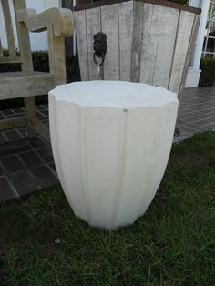 Round Fluted Edge Side Table - Mecox Gardens