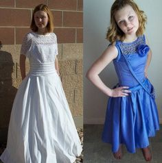 Recycle and Redesign, Competition, Recognition   Wedding dress into Prom Dress