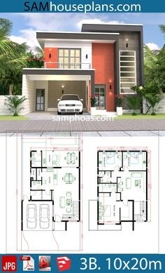 haus design House Design Plans With 3 Bedrooms Plot House Car Parking small garden-Living Dining Kitchens,-Pantry-Wash Modern House Floor Plans, 3d House Plans, Duplex House Plans, Model House Plan, Home Design Floor Plans, House Layout Plans, Simple House Design, Bungalow House Design, Family House Plans
