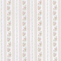 986-56029 Pastel Linen Leaf Stripe - Loretta - Mirage Wallpaper