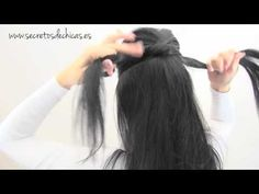 Instructions in Spanish for a pretty and simple to make updo.   Recogido: Trenza con Nudos